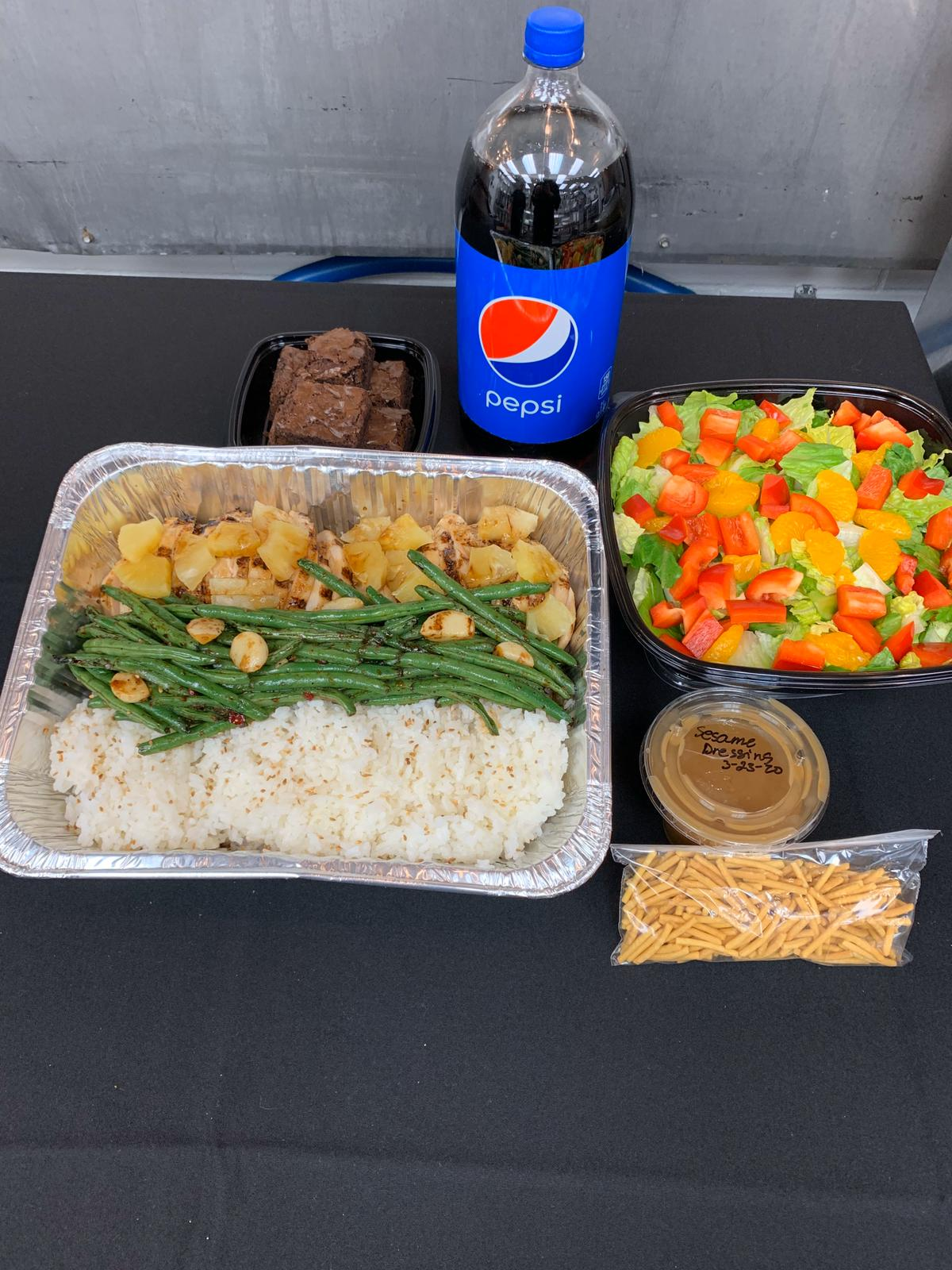 teriyaki chicken meal package  office first catering